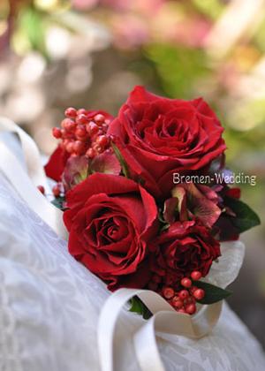 赤いバラのリストレット
