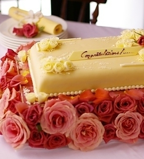 バラのケーキ台