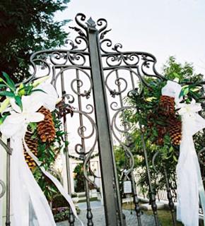 クリスマスの門扉飾り