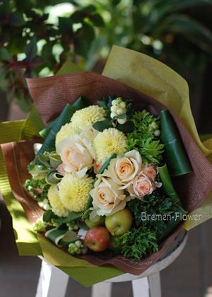 ピンポンマムの花束