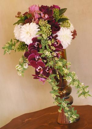 胡蝶蘭の和装ブーケ