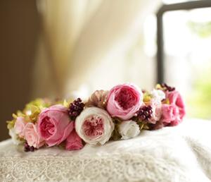 オールドローズの花冠