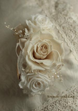 白バラのバレッタ