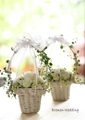 フラワーガールの花カゴ