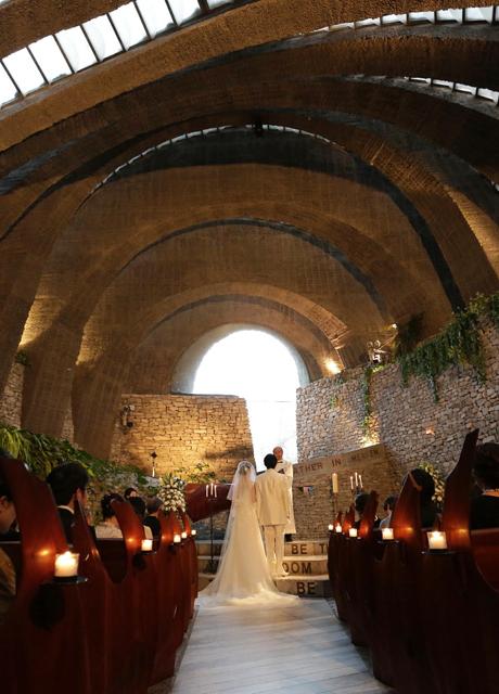 軽井沢 石の教会での結婚式